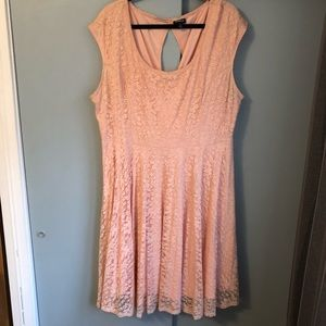Torrid: Light Pink Lace Dress